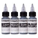 Silverback Ink® Black Th1rt3en and 3 Shade Grey Wash Series - Complete Set of 4 Inks