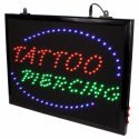 Chain Hangable Tattoo Parlour Tattoo + Piercing LED Studio Sign