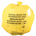 Box of 50 Yellow Clinical Waste Sacks