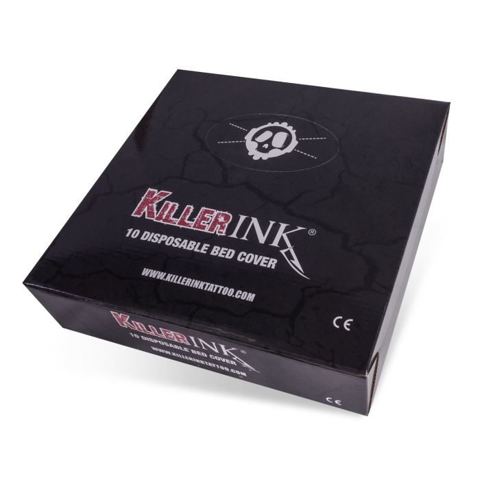 Box of 10 Killer Ink Elasticated Bed Covers 210x90x20cm