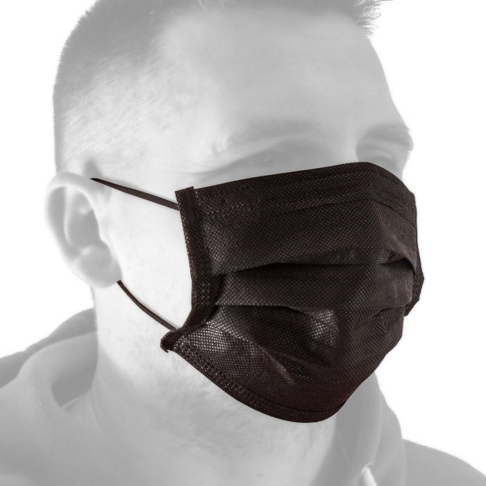 Box of 50 Killer Ink Black Line Face Masks