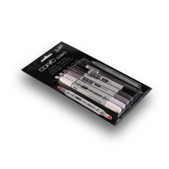 Copic CIAO Markers - Grey Tones - Pack of 5+1