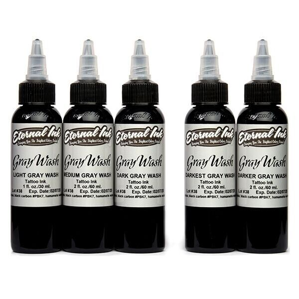 Eternal Ink - Gray Wash - Complete Set of 5 Inks