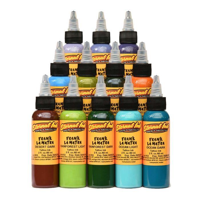 Complete Set of 12 Eternal Ink Frank La Natra Atmospheric Landscapes Set 30ml (1oz)