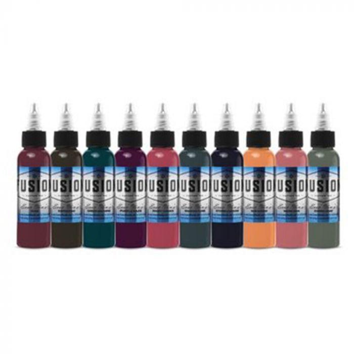 Complete Set of 10 Fusion Ink Evan Olin Signature Palette 30ml (1oz)
