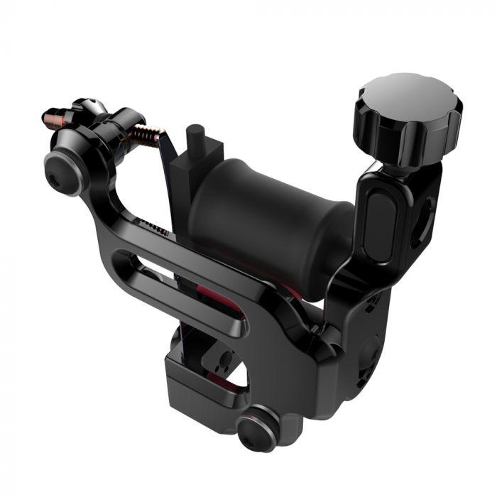 FK Irons AL13 Roswell Aluminium Tattoo Machine - Solid Black - Conventional Liner