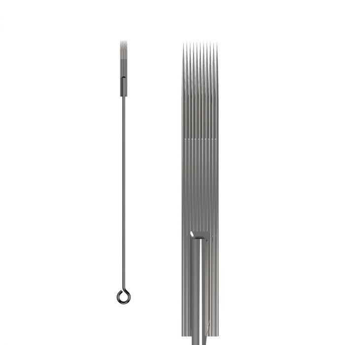 Box of 50 KWADRON Needles 0.35MM LONG TAPER - Flat