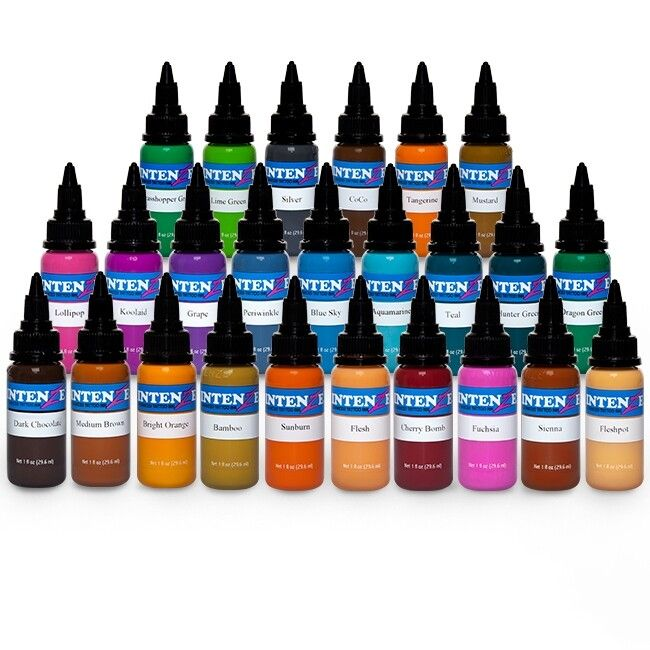 Complete Set of 25 Intenze Ink New Colours 30ml (1oz)