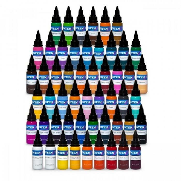 Complete Set of 54 Intenze Ink (Basic, New Original + Pastel) 30ml (1oz)