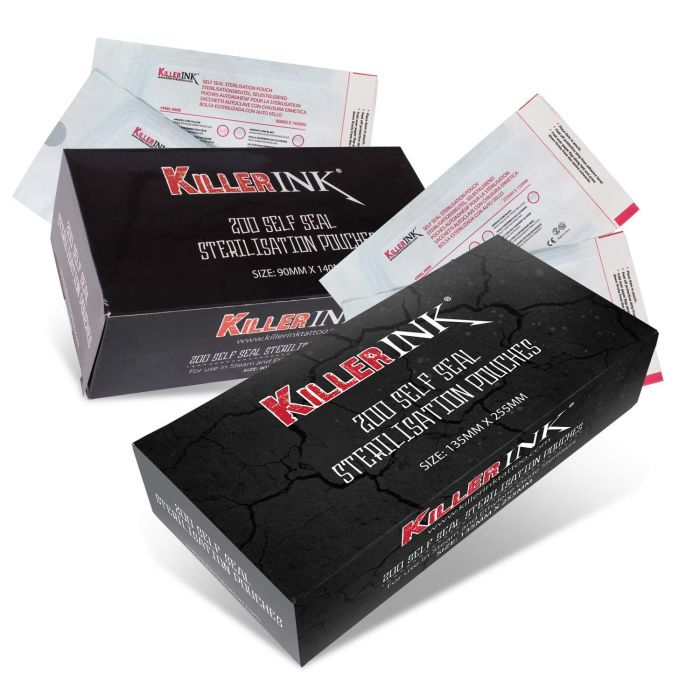 Box of 200 Killer Ink Autoclave Self Seal Sterilisation Pouches