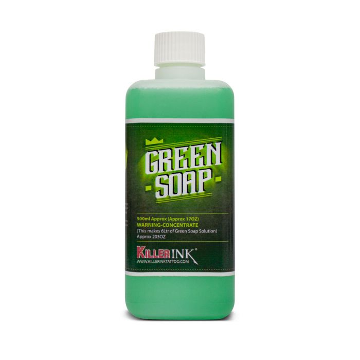 Bottle of 500ml Killer Ink Concentrated Green Soap