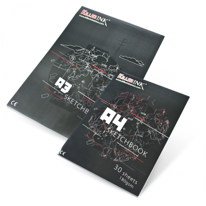 Killer Ink 180GSM High Quality Artist / Sketch Pad A3 or A4 (30 sheets)