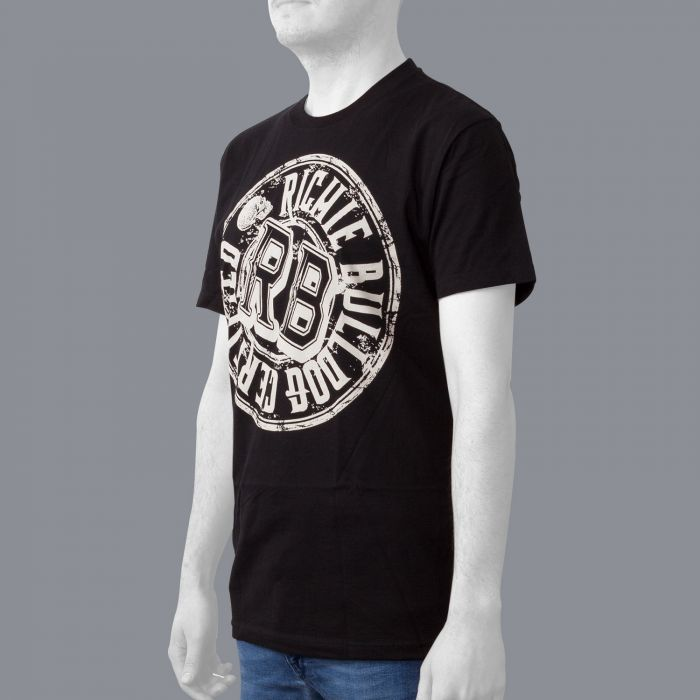Luxury Hustle Wear T-Shirt 'Richie Bulldog' Certified in Black/White