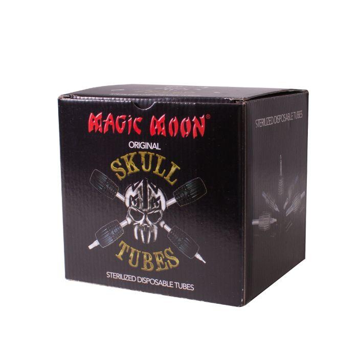 Box of 10 Magic Moon Skull Tubes - Adjustable Cartridge Grips - 30mm