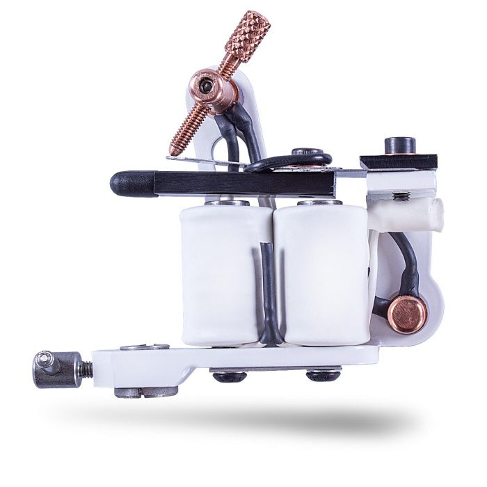 Original Micky Bee White Pearl Sting Tattoo Machine - Liner