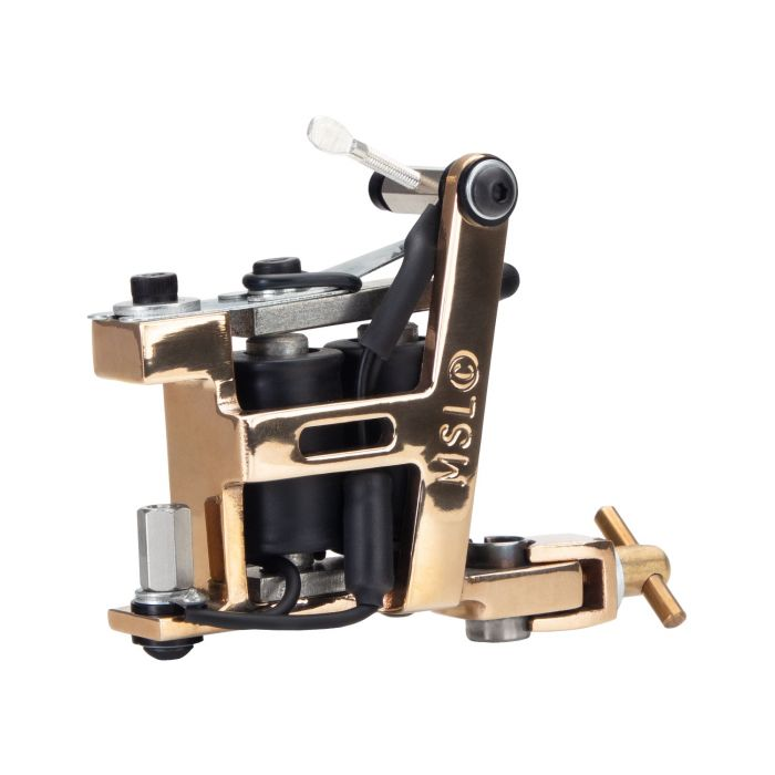 Micky Sharpz - Brass Hybrid Tattoo Machine - Liner / Colour / Shader