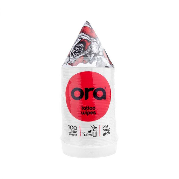 Stack of 100 Ora Tattoo Wipes