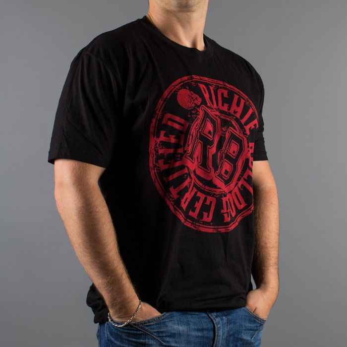 Luxury Hustle Wear T-Shirt Richie Bulldog Certified in Black/Red