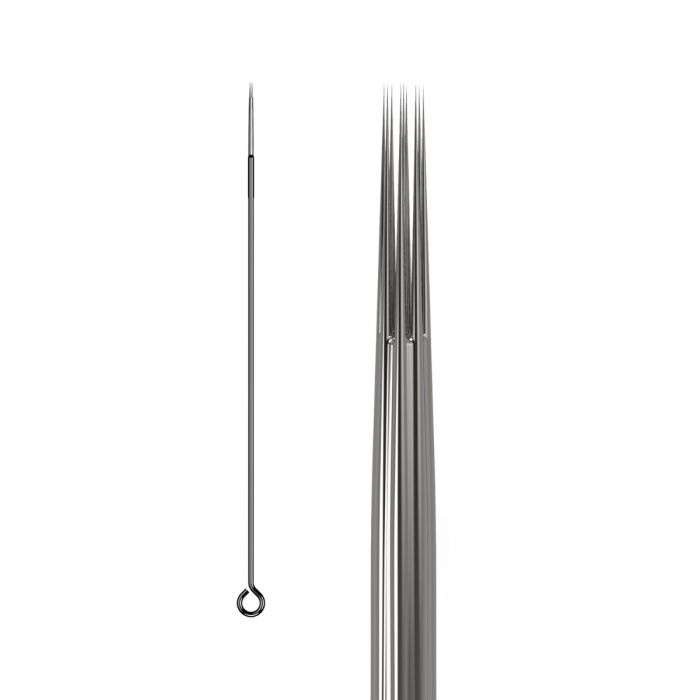 Box of 50 KWADRON Needles 0.25MM LONG TAPER - Round Liner
