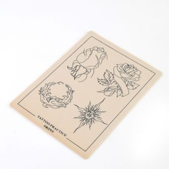 Flower Design Tattoo Practice Skin