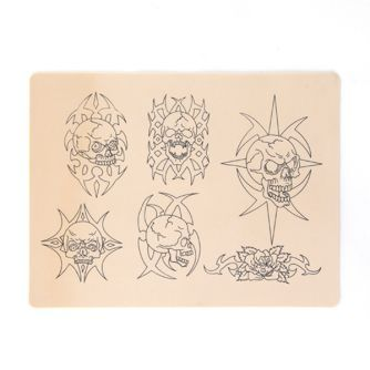 Skull Design Tattoo Practice Skin