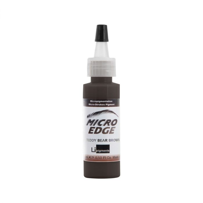 Li Pigments Micro Edge Brow Colors - Teddy Bear Brown 15 ml