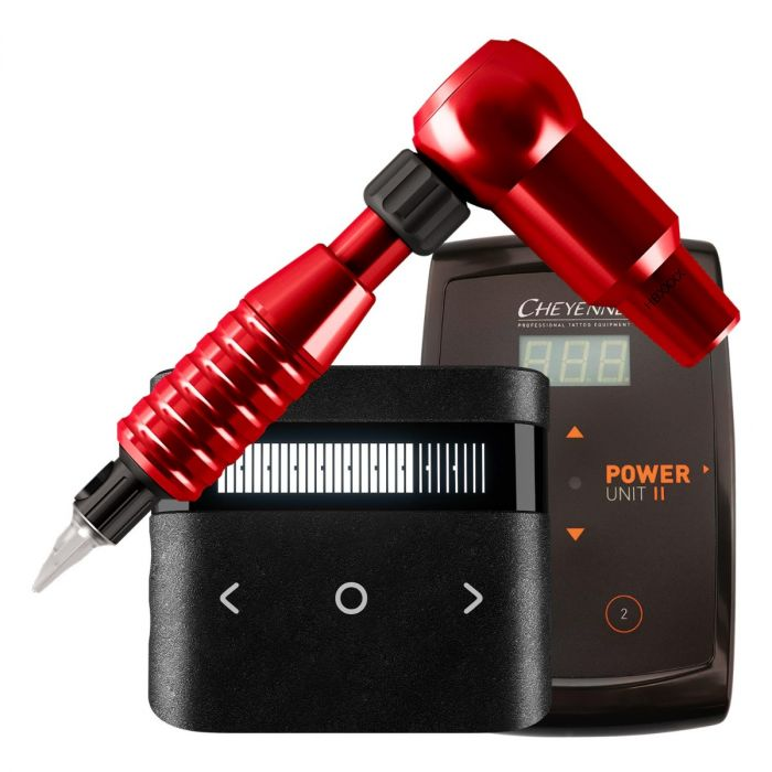 Cheyenne Hawk Thunder Drive + Grip + Power Supply Package in Red