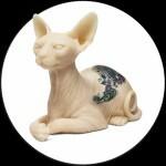 Tattooable Silicone Sphynx Cat & Inkenstein