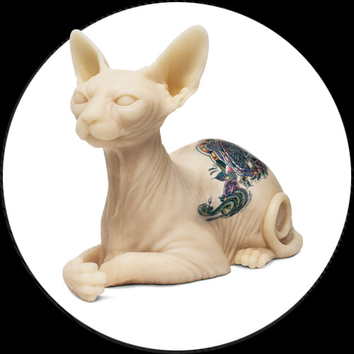 Tattooable silicone sphynx cat inkenstein killer ink for Standard ink tattoo company